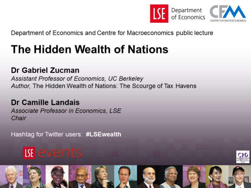 The Hidden Wealth of Nations - The Scourge of Tax Havens - By Gabriel Zucman